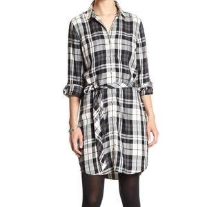 {Banana Republic Factory} Plaid Flannel Dress